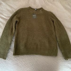 Forever 21 Olive Sweater